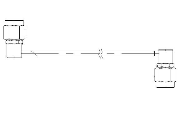 SMA Male Right Angle to SMA Male Right Angle 180°