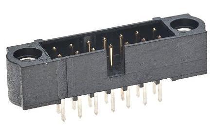 M80-500 - Vertical DIL PCB Connectors - Male