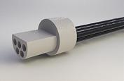 "A22002-001 -Omnetics Micro Circular 5 Pin Male w/18"" leads - MCP-05-WD-18.0-C"