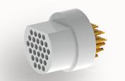 A22394-001 -Omnetics Micro Circular 39 Pin Male w/PCB - MCP-39-SS
