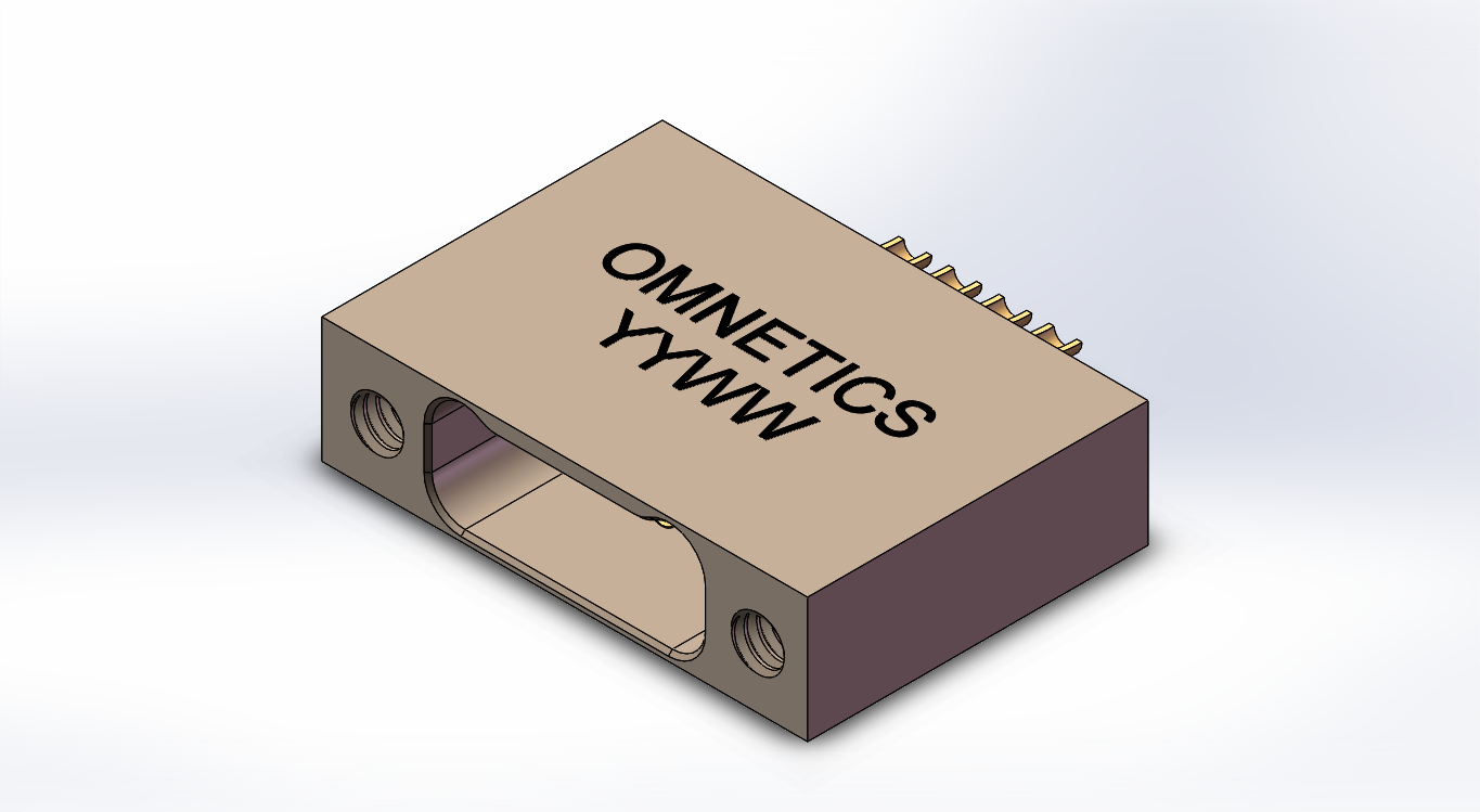 A92000-004 -Omnetics - Micro-D SIL 4-Way Female Connector - MMSS-04-SS-N-EJS