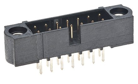 M80-5000442 -Harwin Datamate J-Tek   4 way DIL Male Vertical PCB Connector