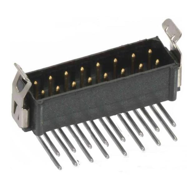 M80-8661422 - Harwin Datamate L-Tek 7+7 Way  Male DIL Horizontal PCB Connector