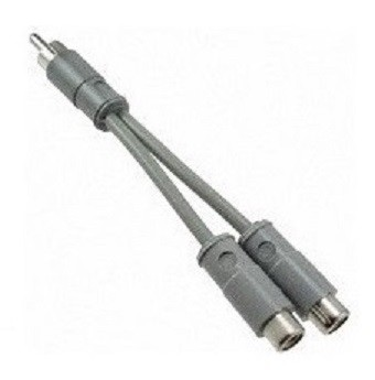 330F1X 2 female RCA to 1 male RCA - 4 in cable