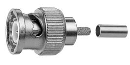 J01000A0042 - Telegartner BNC Male Straight Plug LMR-100 RG-174U RG-316U 50 ohm Connector