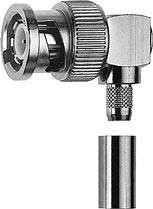 J01000A0054 - Telegartner BNC Male R/A Plug LMR240 Crimp 50 ohm Connector