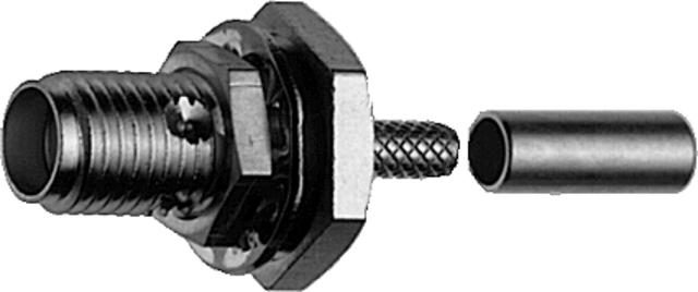 J01151A1111 - Telegartner SMA Female Bulkhead Jack LMR240 Crimp
