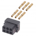 M80-8880605 - Harwin Datamate L-Tek 6 Way (3+3) Small Bore Female Connector