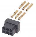 M80-8880605 - Harwin Datamate L-Tek 6 Way (3+3) Small Bore Female Connector