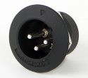 B3MBAUH - Switchcraft B Series, 3 Contacts, Male, Black Finish, Gold Contact Plating, Sealed XLR Connector