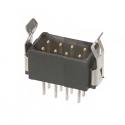 M80-8670822 -Harwin Datamate L-Tek 4+4 Way Male DIL Vertical PCB Connector