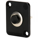 EHPBSMBB - Momentary Pushbutton Switch, black button, Black flange