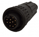 W6880-9PG-522 - 9 Pin Male Cable End Connector