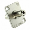 EH35MM2 - 3.5mm Stereo Feed-Thru Adapter Nickel Finish