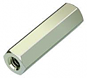 2S30FF25 25mm Nickle Plated Brass M3 Female/Female Threader Hex Spacer