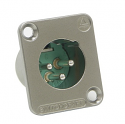 DE3MB -Switchcraft DE Series XLR 3 way Panel Mount Connector