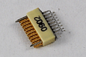 A79041-001  18 Position Dual Row Female Nano-Miniature Connector - NSD-18-AA-GS