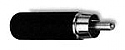 "3502ABAU - Switchcraft 2 conductor shielded RCA straight plug, solid pin, cable up to 0.290"" (7.366mm) diameter,"