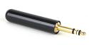 "480X -Switchcraft MIL TYPE 3-conductor 0.206"" plug, screw terminal, black handle, MIL P/N M642/5-1"