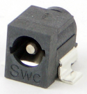 RASM722X - Right Angle SMT Mount DC Power Jack, pin size 0.080""