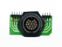EN3P18FRAPCBW - 18 PIN FEMALE R/ANGLE PANEL MOUNT CONNECTOR