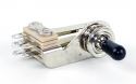 12012X  Switchcraft -SPST(NC)/SPST(NC) - Straight, bright brass finish, riveted silver contacts