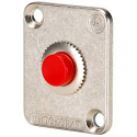 EHPBSMR - Momentary Pushbutton Switch, Red button, Nickel flange