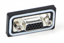 DCPHD15FSC1 - D-Sub Panel Mount Connector