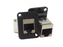 EHRJ45P5ES- Switchcraft EH Series RJ45 CAT5e Feedthru, Shielded, Plastic Housing