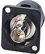 EHBNC2B- Switchcraft BNC FEED THROUGH, Female Feedthru Jack, Isolated- Switchcraft Black