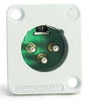 DE4MW -Switchcraft DE Series XLR 4 way Panel Mount Connector