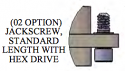 A97007-001 - Jackscrew, #2-56, Standard Length Hex Drive