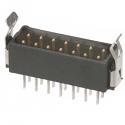 M80-8671422 -Harwin Datamate L-Tek 7+7 Way Male DIL Vertical PCB Connector