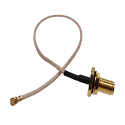RG178-SMAFBW-MHF-200MM - RF Cable UFL Plug to SMA-F Bulkhead Jack 200mm