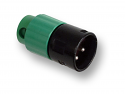 AAA3MBGGLP -Switchcraft XLR 3 Pin Male Green