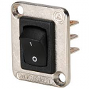 EHRRSL- Switchcraft Curved Rocker switch, I/O, DPDT, nickel flange