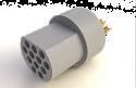 A22004-001 -Omnetics Micro Circular 12 Pin Male w/Soldercups - MCP-12-SS