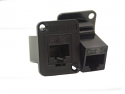 EHRJ45P6 - EH Series RJ45 CAT 6 Feedthru, Unshielded, Plastic Housing - Black