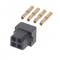 M80-8880405 - Harwin Datamate L-Tek 4 Way (2+2) Small Bore Female Connector
