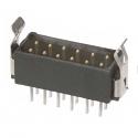 M80-8671222 -Harwin Datamate L-Tek 6+6 Way Male DIL Vertical PCB Connector