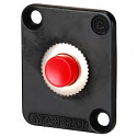 EHPBSMRB - Momentary Pushbutton Switch, Red button, Black flange