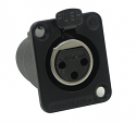 DE3F -Switchcraft DE Series XLR 3 way Panel Mount Connector