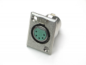 D5F -Switchcraft D Series XLR Connector Panel Mount