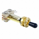 12011X -Switchcraft SPST(NC) - Straight, bright brass finish, riveted silver contacts