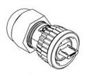 DCC-USBCB-120 -Conxall Data-Con-X Micro USB Field Installable Cable Plug