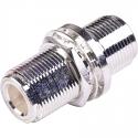 AD-NF-NF-BH - N Type Female to N Type Female Bulkhead Adapter