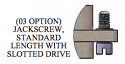 A97008-001 -Omnetics- Jackscrew, #2-56, Standard Length Slotted Drive