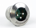 B3MH - Switchcraft B Series, 3 Contacts, Male, Nickel Finish, Silver Contact Plating, Sealed XLR Connector