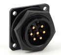 14182-7PG-300 - 7 Pin Male Panel Mount Connector