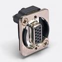 EHHD15FF- Switchcraft 15 PIN D SUB F-F, NIC